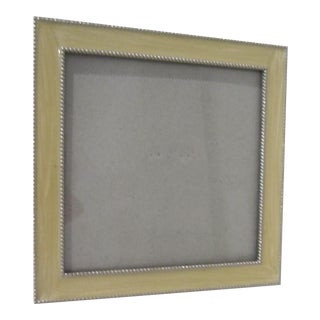 Enamel Silver Bordered Frame For Sale