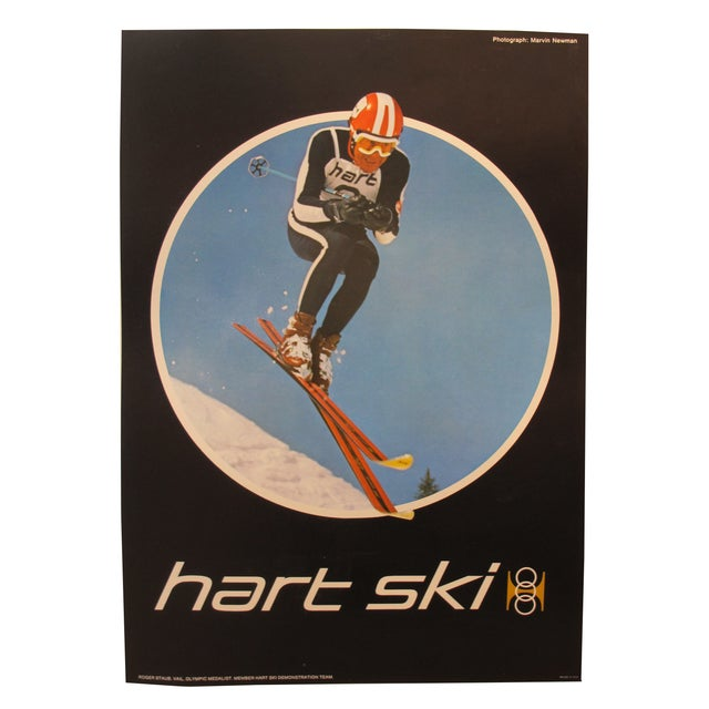 MId-Century Original American Hart Skis Poster For Sale