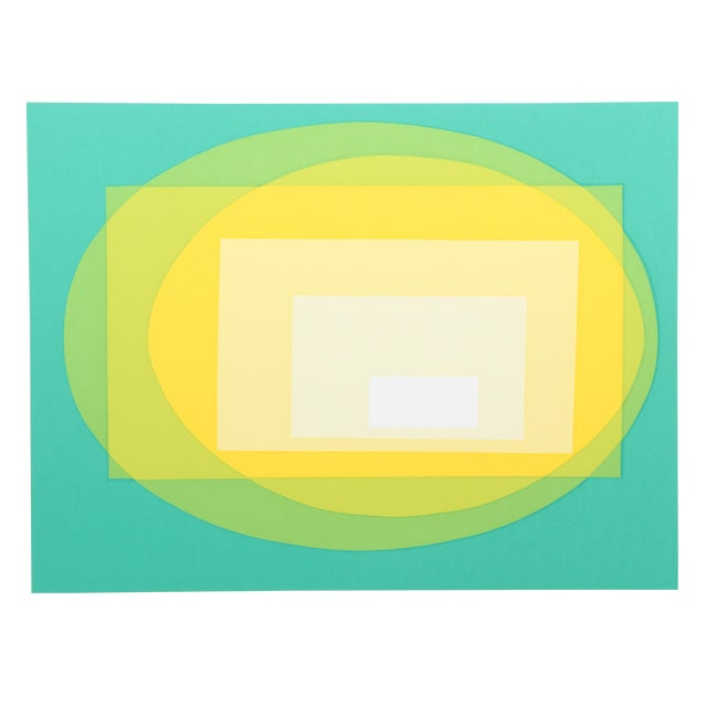 Transformation, Op Art Serigraph by Helen Thomas For Sale