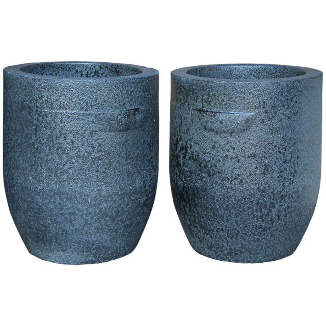 Large Heavy Smelting Crucibles - a Pair For Sale