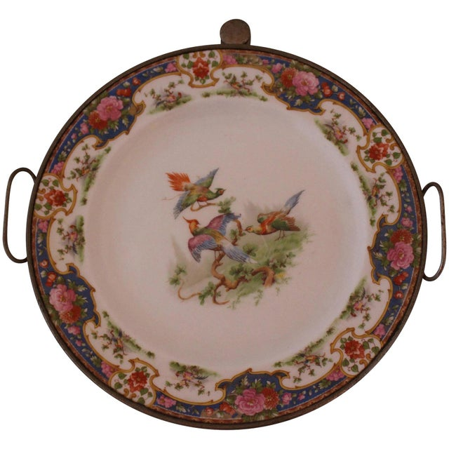 Ceramic Victorian Hot Water Reservoir Transferware Plate For Sale - Image 7 of 7