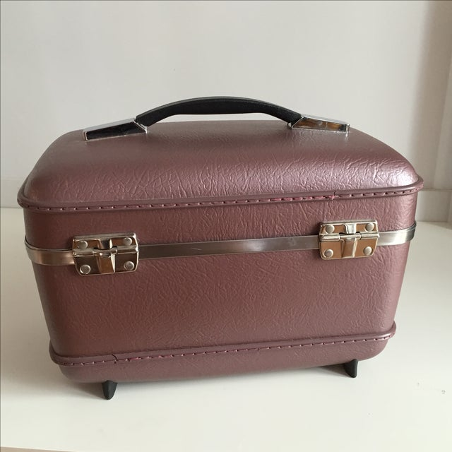 Pearlescent Purple American Tourister Train Case - Image 5 of 6
