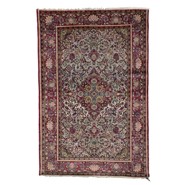 Late 19th-Century Antique Silk Persian Kashan with Jewel-Tone Colors For Sale In Dallas - Image 6 of 10