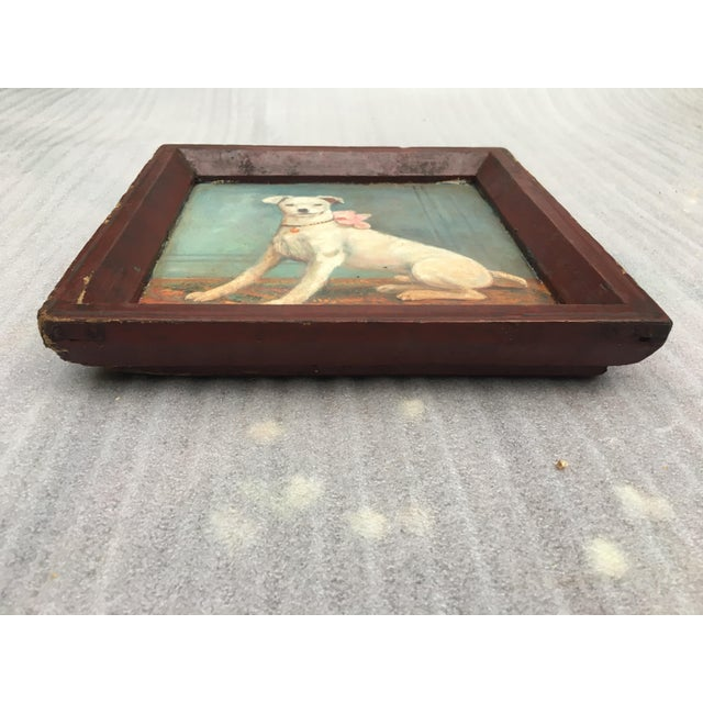 Vintage Tray with Portrait Painting of a Dog - Image 3 of 5