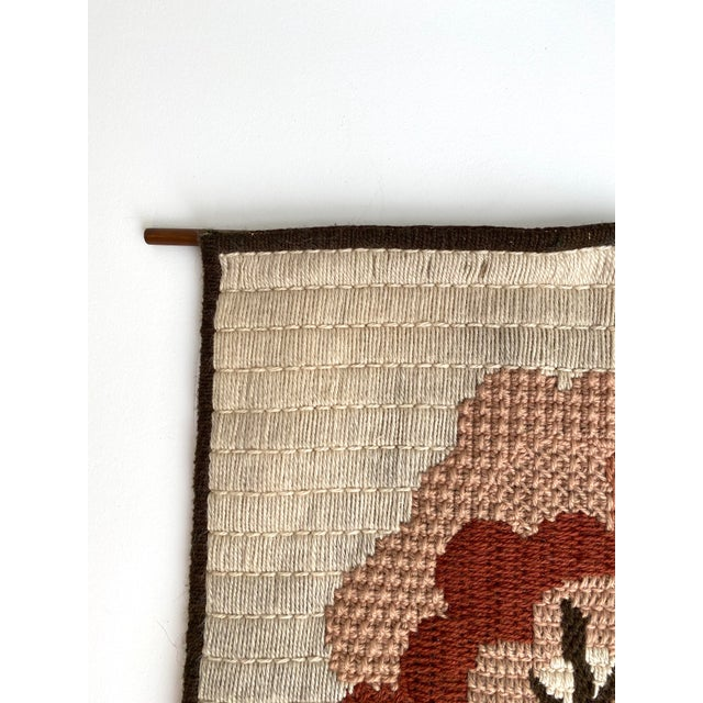 Mid 20th Century Vintage Danish Woven Textile Wall Hanging For Sale - Image 5 of 7