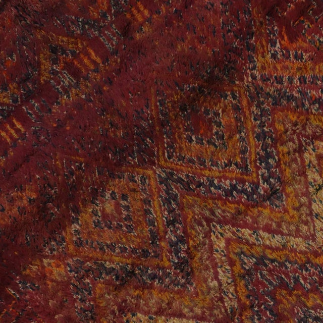 Berber Tribes of Morocco Berber Moroccan Rug in Raspberry -- 5'9 X 9'10 For Sale - Image 4 of 5
