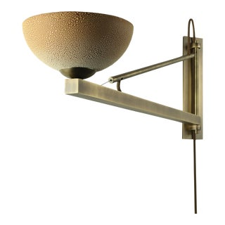 Roseland Brass Swing Arm Sconce by Pax Lighting For Sale