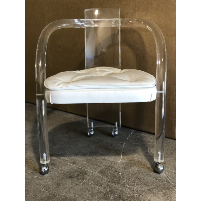 Lucite Dining Chairs - A Pair For Sale - Image 5 of 5