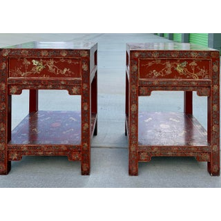 Chinoiserie Lacquer End Tables - A Pair Preview
