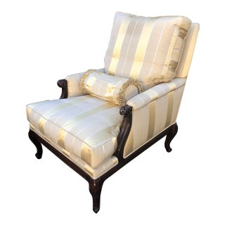 Superb Nancy Corzine French Provincial Louis XV Lounge Chair For Sale