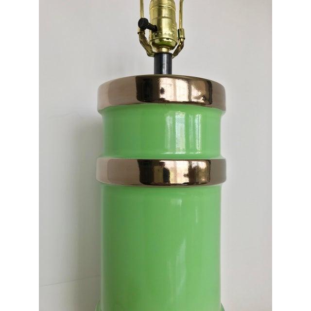 Gilt Ceramic Table Lamp - Image 4 of 8