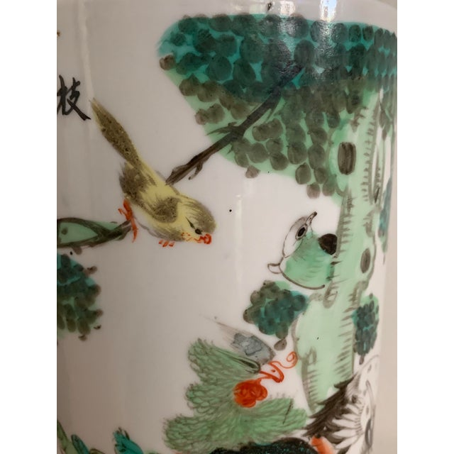 Antique 19th Chinese Hat Stand Cylinder Vase For Sale In Miami - Image 6 of 13