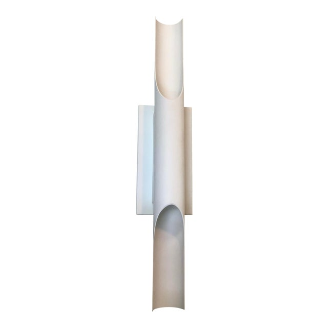 Boyd Lighting Halfpipe Wall Sconce in Matte White For Sale