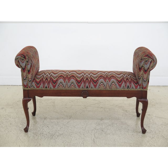 Queen Anne Mahogany Window Bench For Sale - Image 12 of 12