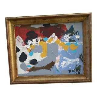 Small Contemporary Abstract Painting, Framed For Sale