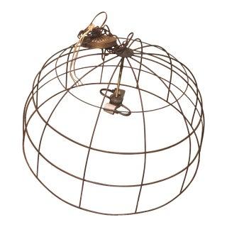 Industrial Basket Chandelier For Sale