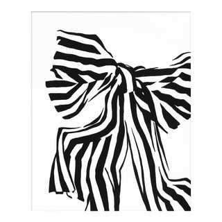 "Medium ""White Bow"" Print by Angela Chrusciaki Blehm, 28"" X 35"""