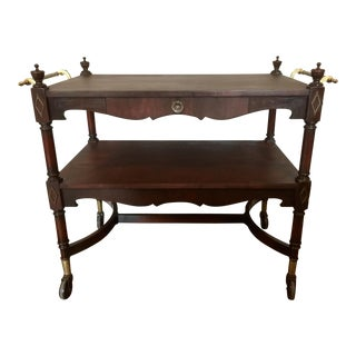 Vintage Rolling Tea Cart For Sale