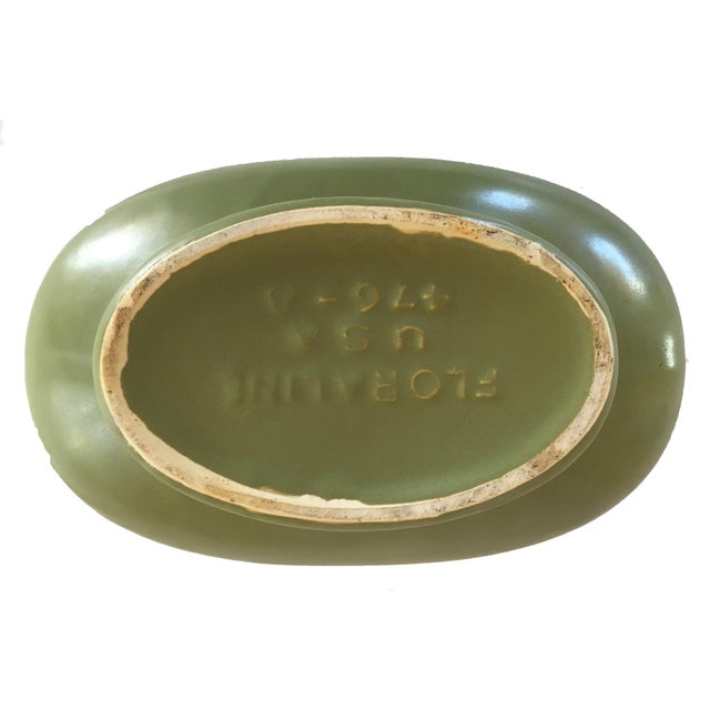 1960s Green Floraline Bowl For Sale - Image 4 of 5