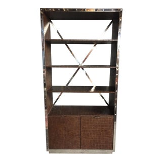 Modern Timothy Oulton Leather Bookcase For Sale