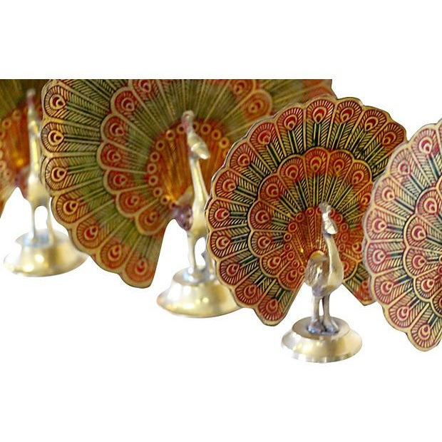 Brass Peacocks - Set of 4 - Image 4 of 5