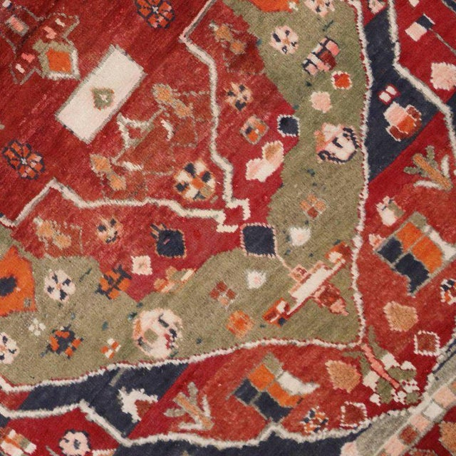 Vintage Persian Bakhtiari Rug with Modern Tribal Style For Sale - Image 4 of 8