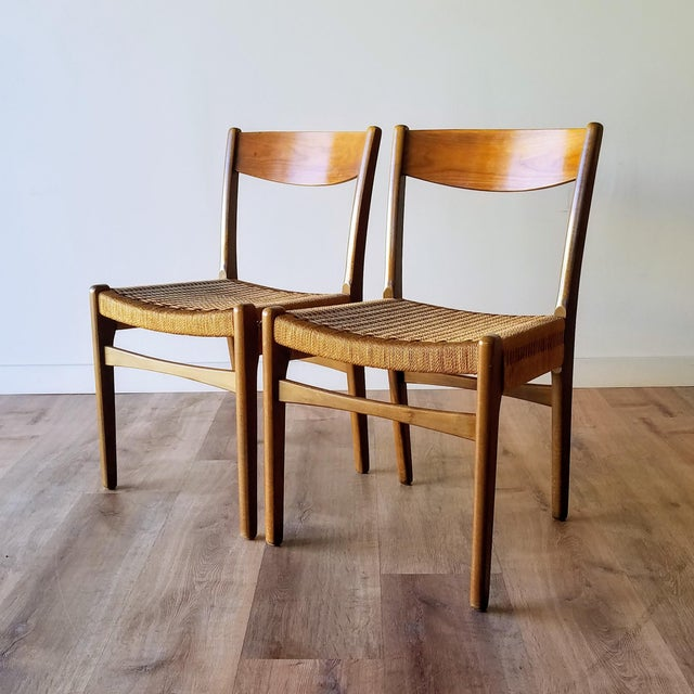 Swedish Mid-Century Modern Rope Dining Chairs - a Pair For Sale - Image 13 of 13