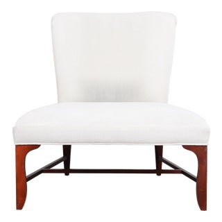 Baker Furniture Mid-Century Oversized Slipper Chair For Sale