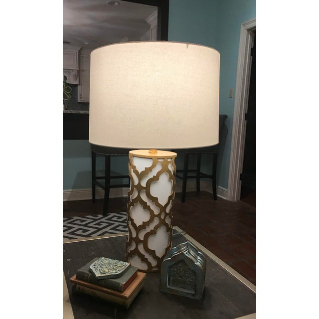 2010s Contemporary Arabella Gold Table Lamp For Sale - Image 5 of 10