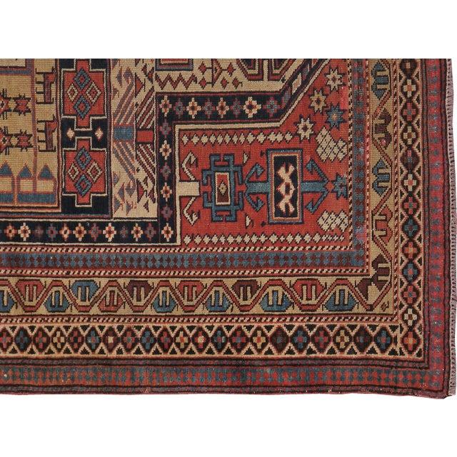 """Caucasian Kazak Antique Rug - 4'1"""" X 4'10"""" - Image 3 of 3"""