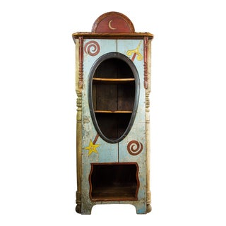 Antique Richard Dunbrack Folk Art Cupboard For Sale