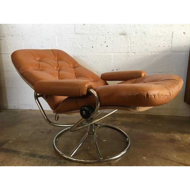 Vintage Mid-Century Modern Reclining Chair By Ekornes Stressless (A Pair) - Image 6 of 11