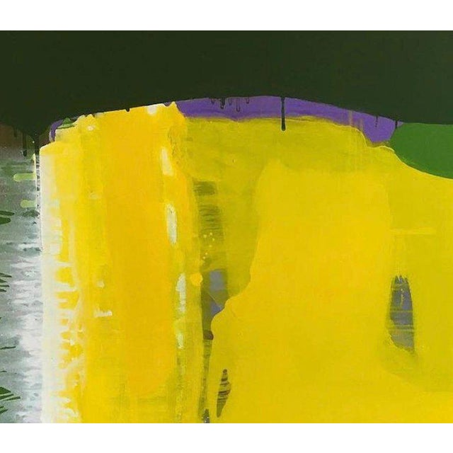 Abstract Arild Askeland Abstract Acrylic Painting on Canvas Yellow Morning For Sale - Image 3 of 5