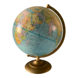 Vintage 1960s Petite World Globe For Sale