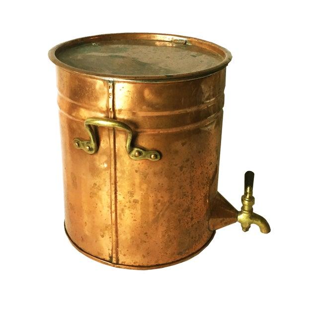 Antique Copper & Brass Drink Dispenser For Sale