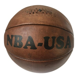 Leather Sports Decor Repro Basketball