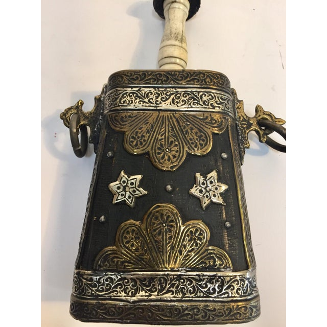 Moroccan Antique Tribal Gun Powder Case Flask For Sale In Los Angeles - Image 6 of 12