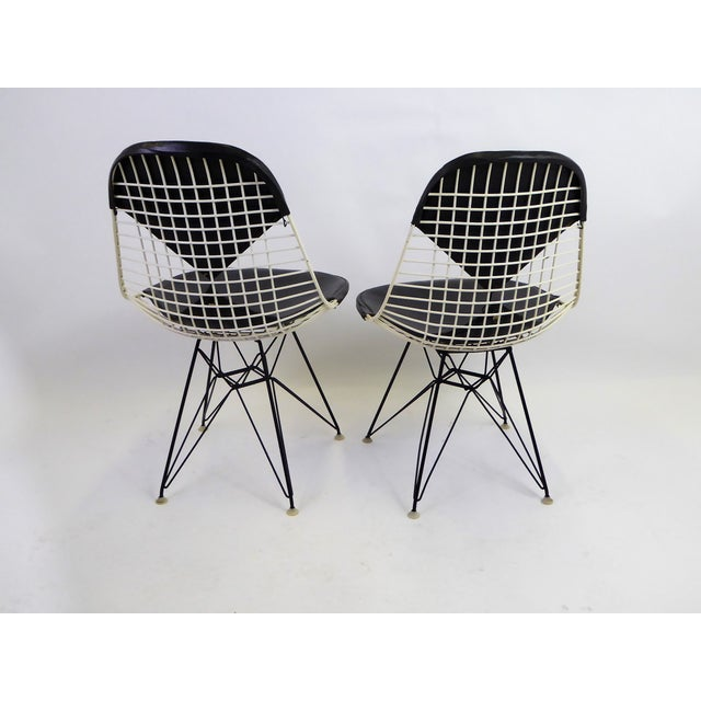Contemporary 1950s Eames for Herman Miller DKR Bikini Chairs With Eiffel Base - a Pair For Sale - Image 3 of 13