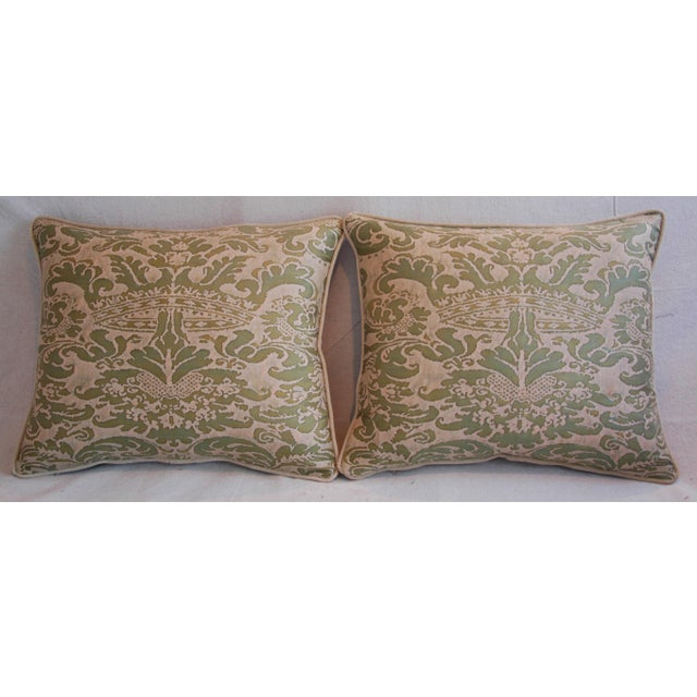 Italian Fortuny Corone Crown Down Pillows - A Pair - Image 3 of 11