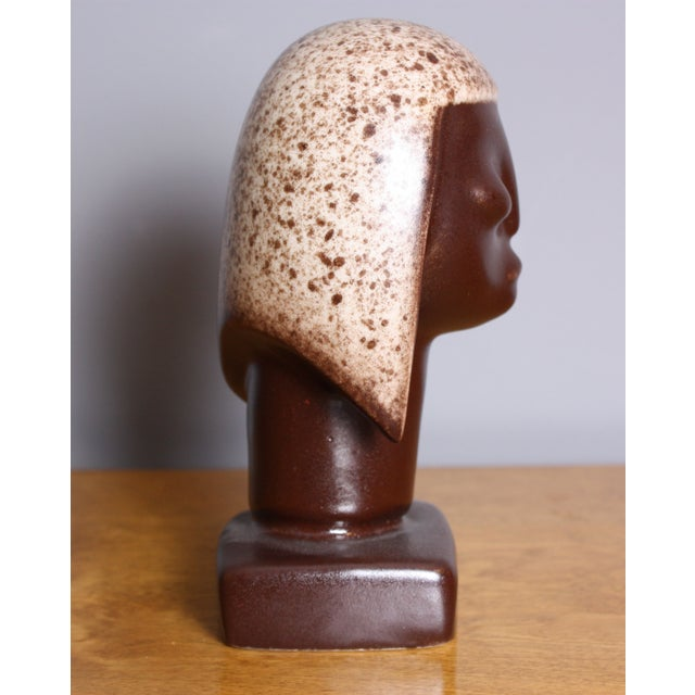 Mid-Century Modern Vintage Howard Pierce Tribal Ceramic Figure For Sale - Image 3 of 5