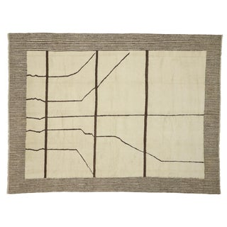 Contemporary Moroccan Area Rug - 10′3″ × 13′7″ For Sale