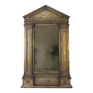 19th C. Italian Neoclassical Style Gilt Wood Mirror For Sale