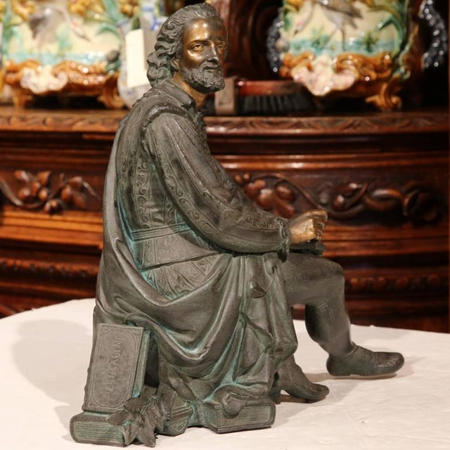 19th Century French Spelter Metal Statue With Polychrome Finish - Image 4 of 9