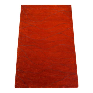Paprika Wool Metro Rug by Jaunty- 5x8ft. For Sale
