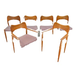 Set of Six Arne Hovmand Olsen Dining Chairs in Teak For Sale