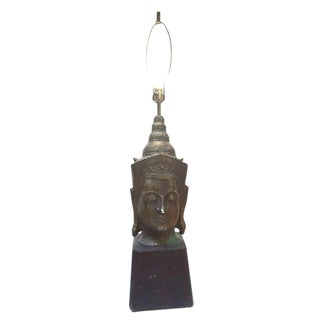 Mid Century Modern Lamp Monumental Vishnu Statue Lamp - 46 Inch For Sale