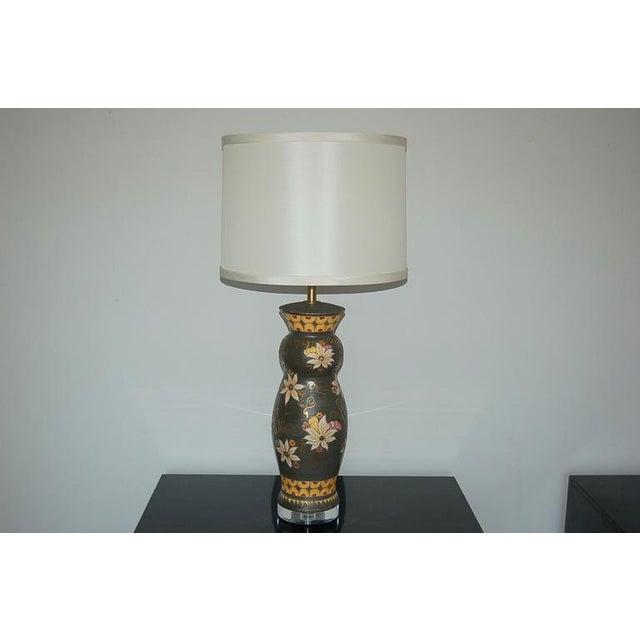 Italian Vintage Italian Ceramic Deruta Hand Painted Lamps For Sale - Image 3 of 11
