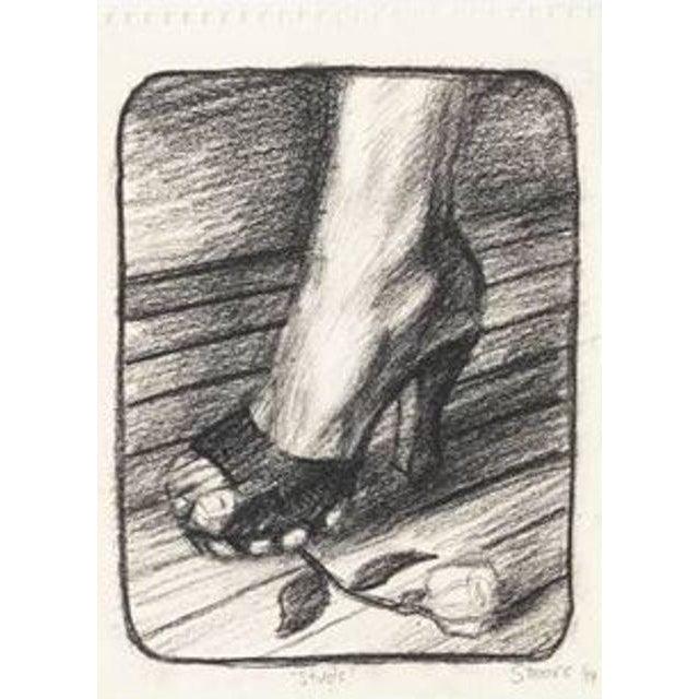 "Hugh Steers ""Studs"" Graphite Drawing - Image 2 of 3"