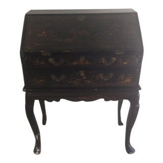1900's English Antique Black Writing Desk