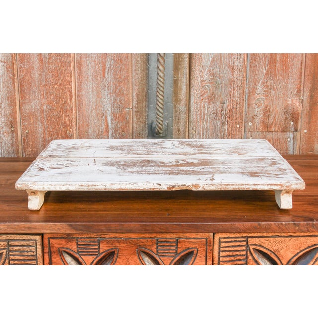 Vintage Blanca Painted Teak Bajot Table